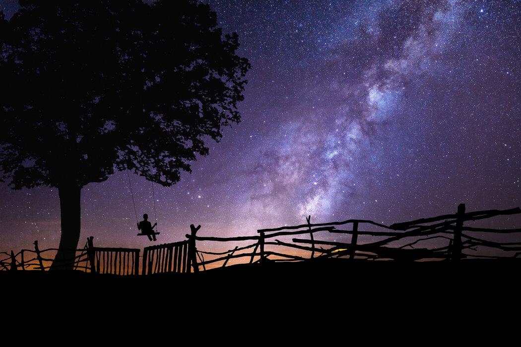 Starry Night Sky Trendy Wall Mural Photowall