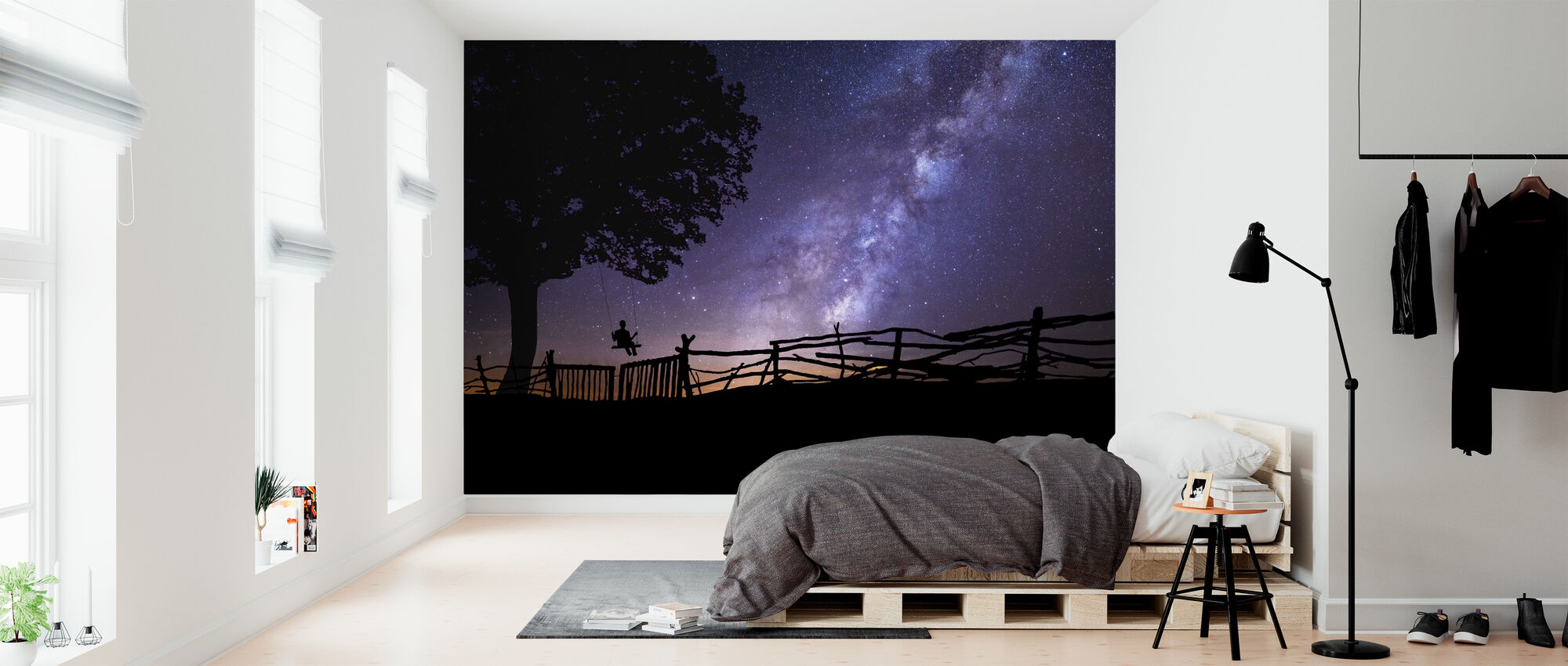 Starry Night Sky - Wallpaper - Bedroom