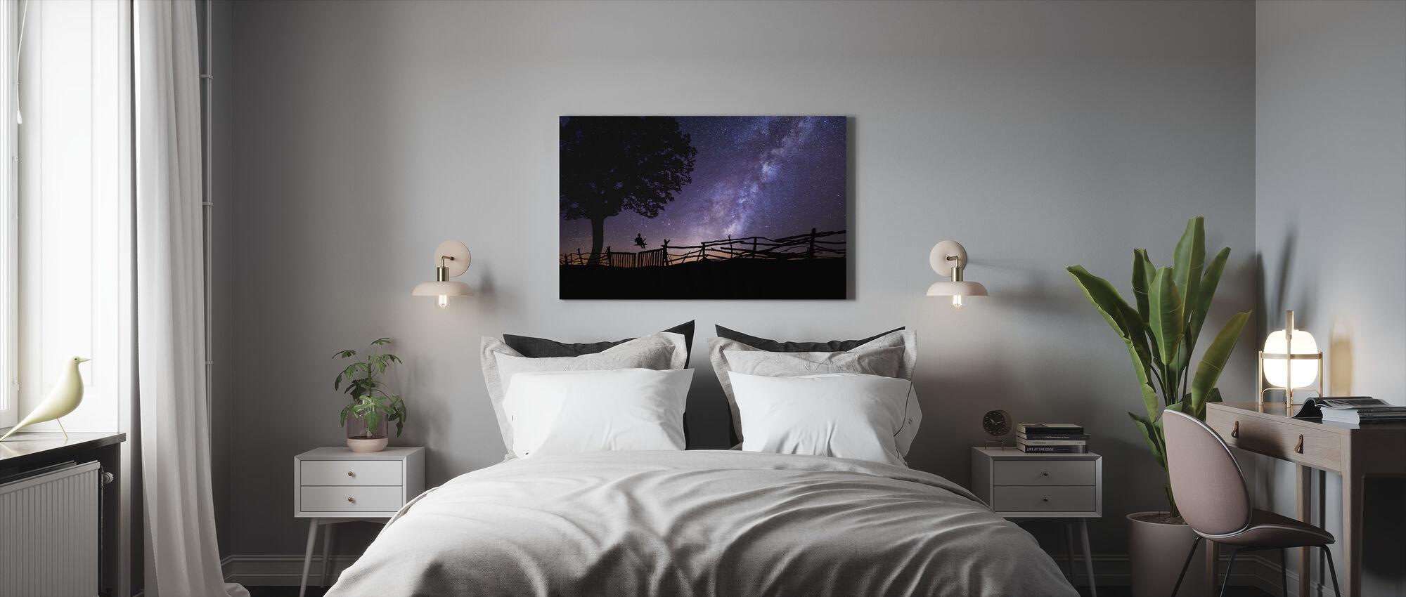 Tähtitaivas - Canvastaulu - Makuuhuone