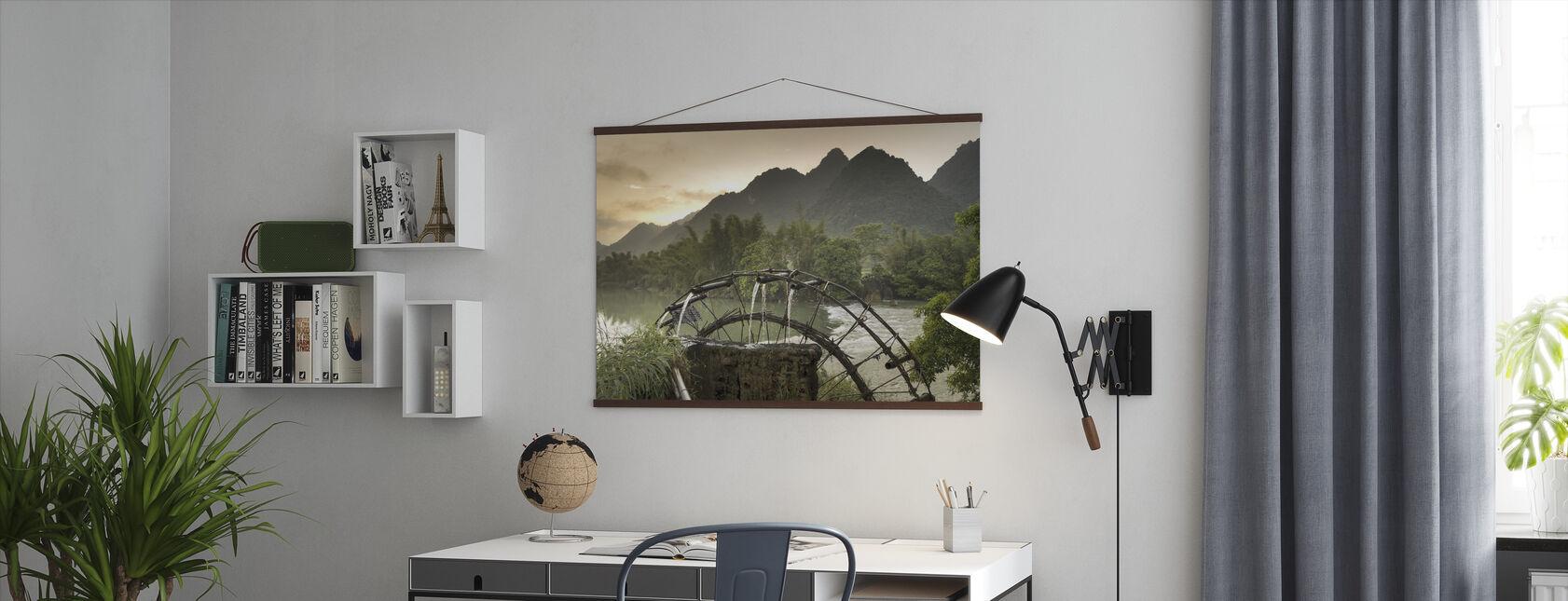 Rivier wiel - Poster - Kantoor