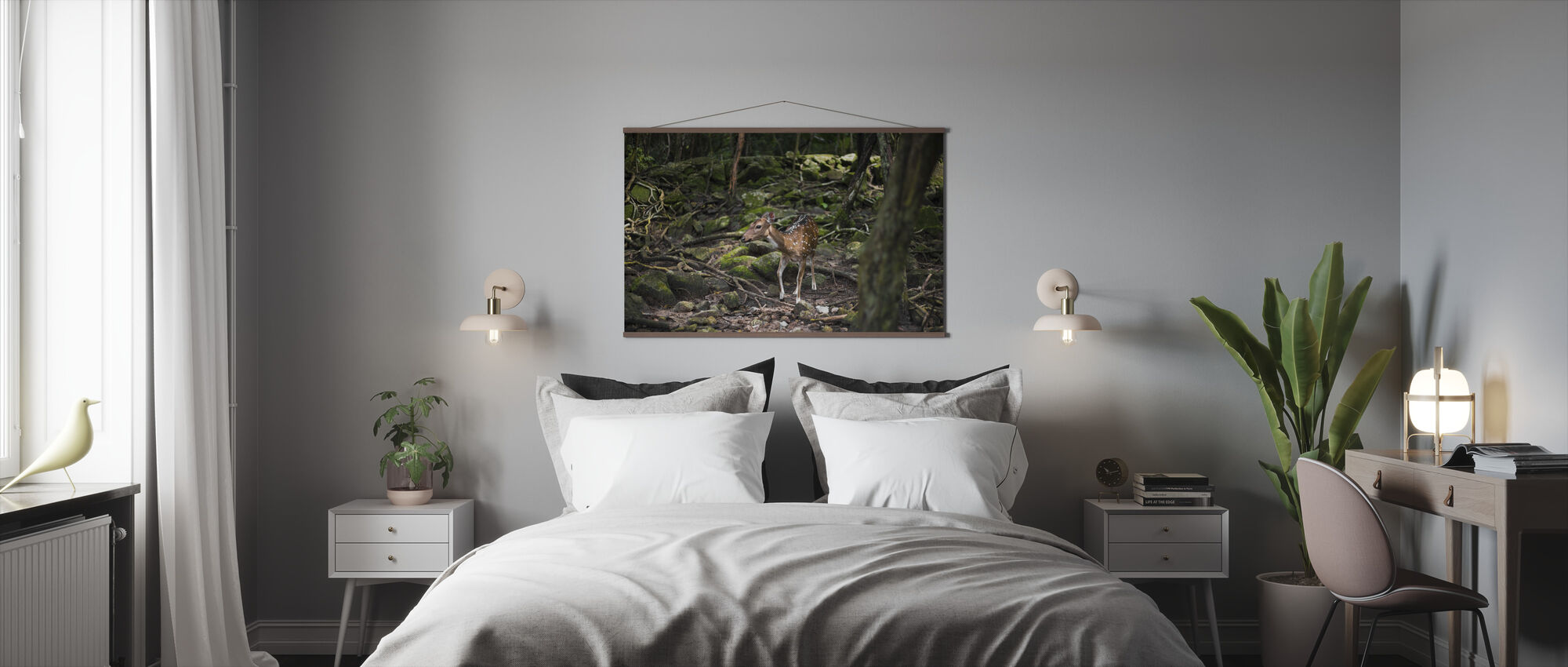 Fawn Roe Deer - Poster - Bedroom