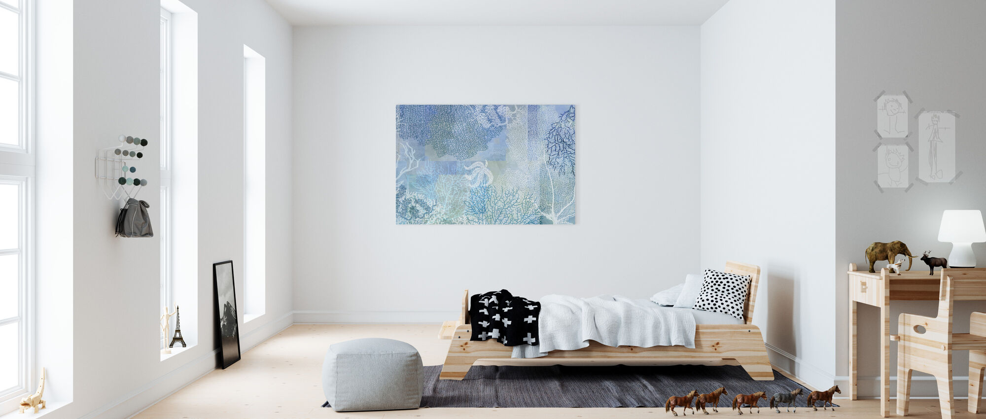 Blue Sea Water - Canvas print - Kids Room