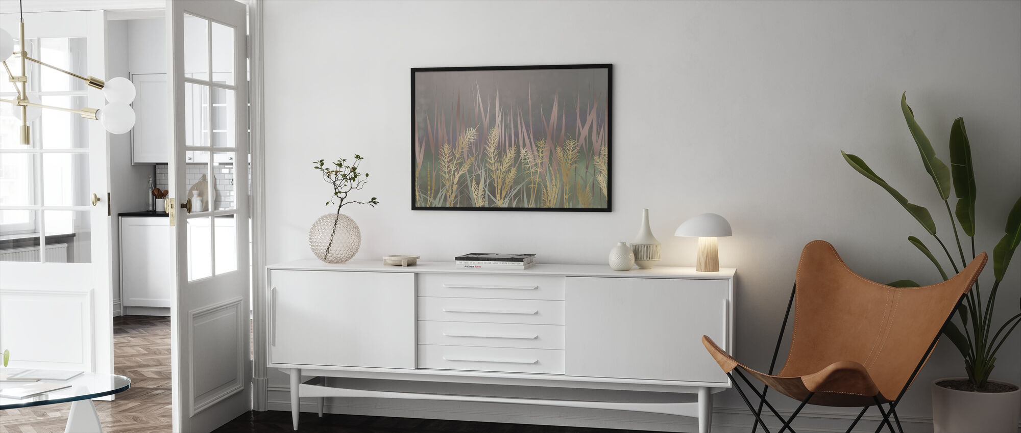 Lightening Grass II - Framed print - Living Room