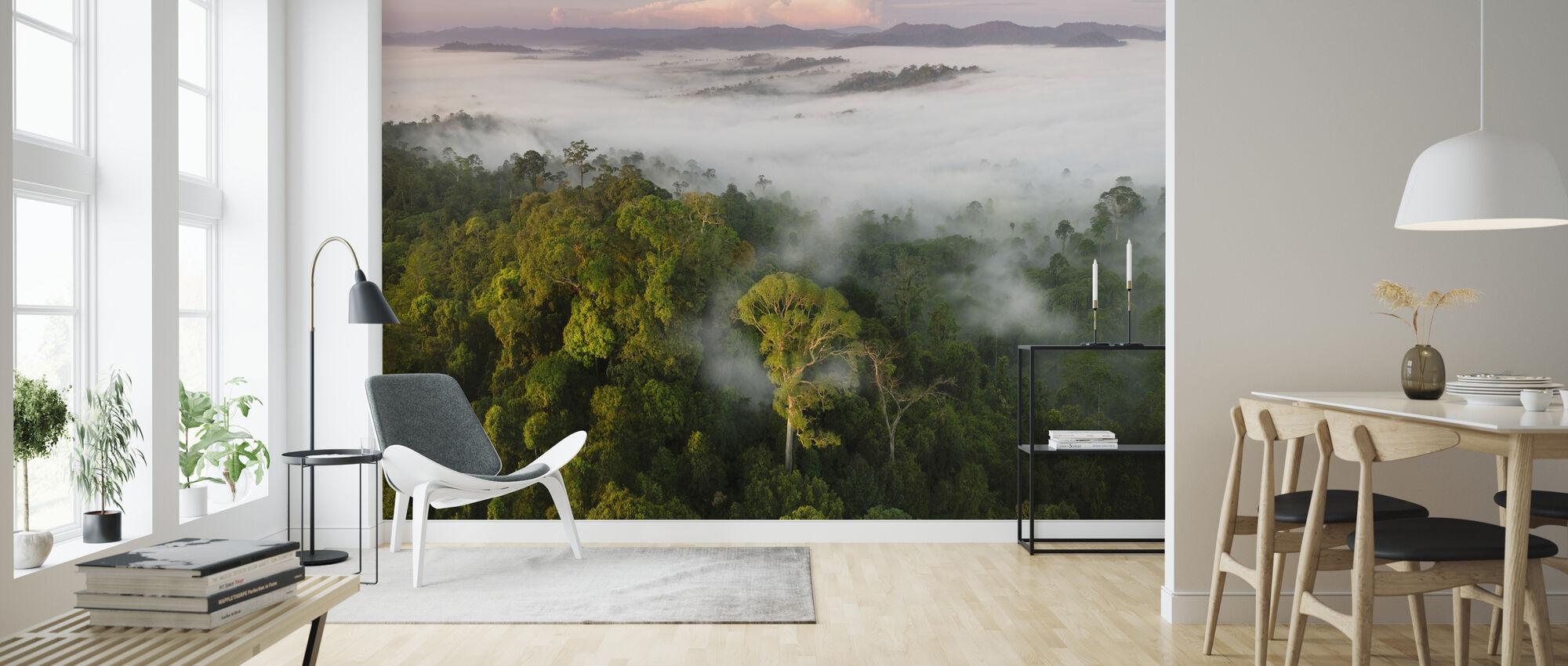 Lowland Rainforest Mist - Wallpaper - Living Room