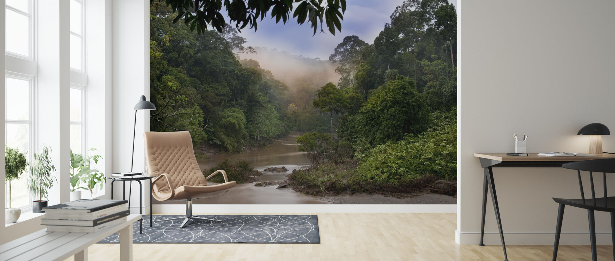 Segama River and Rainforest - Wallpaper - Living Room