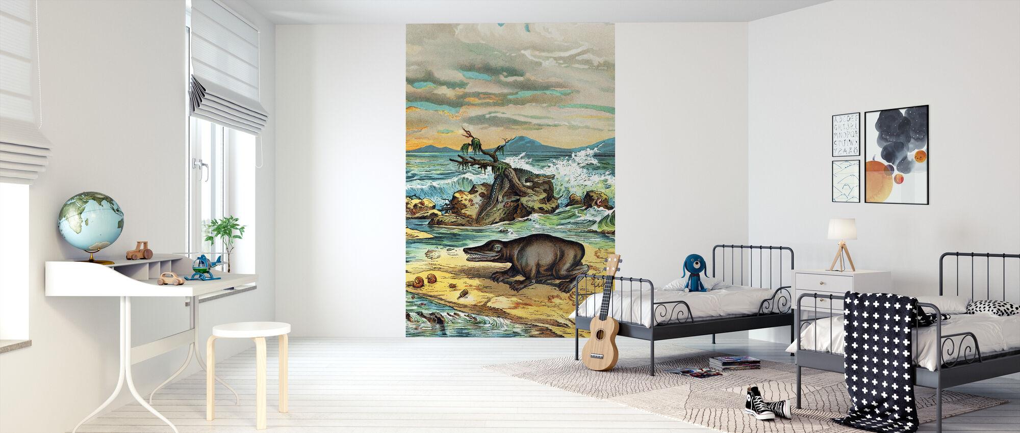 Triassic Coastal Environment - Wallpaper - Kids Room