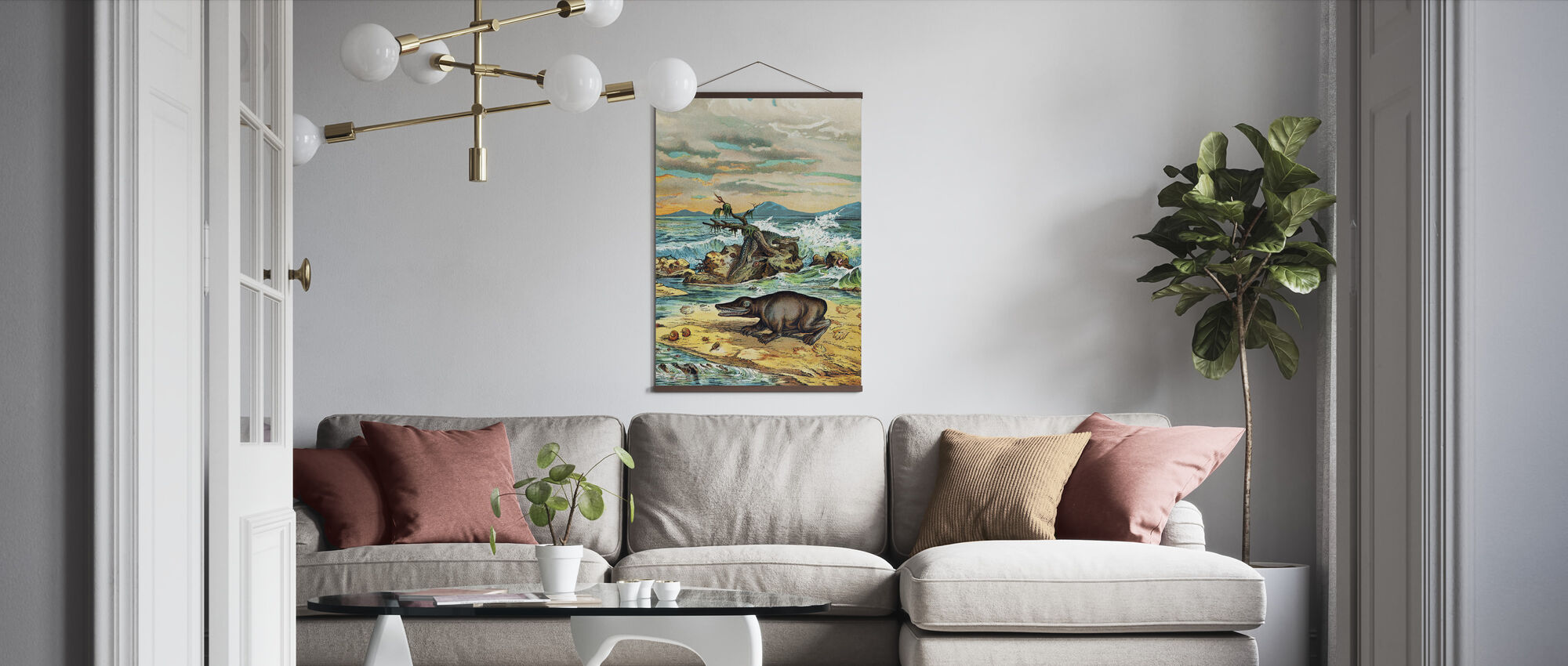 Triassic Coastal Environment - Poster - Living Room