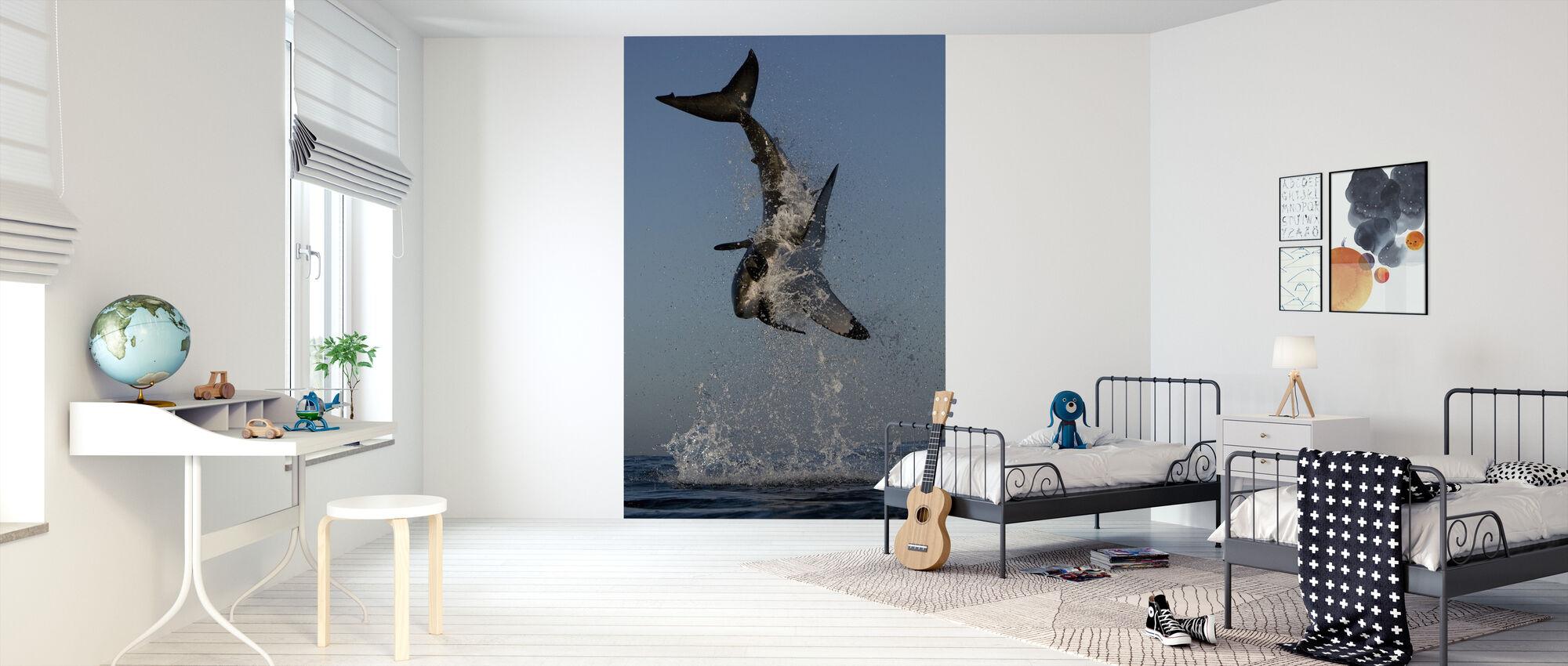 Großer weißer Hai - Tapete - Kinderzimmer