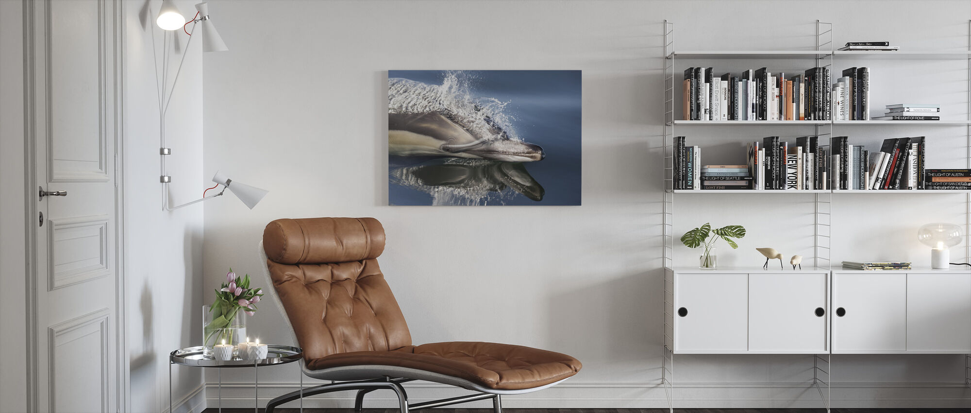 Dolfijn met lange snavel - Canvas print - Woonkamer