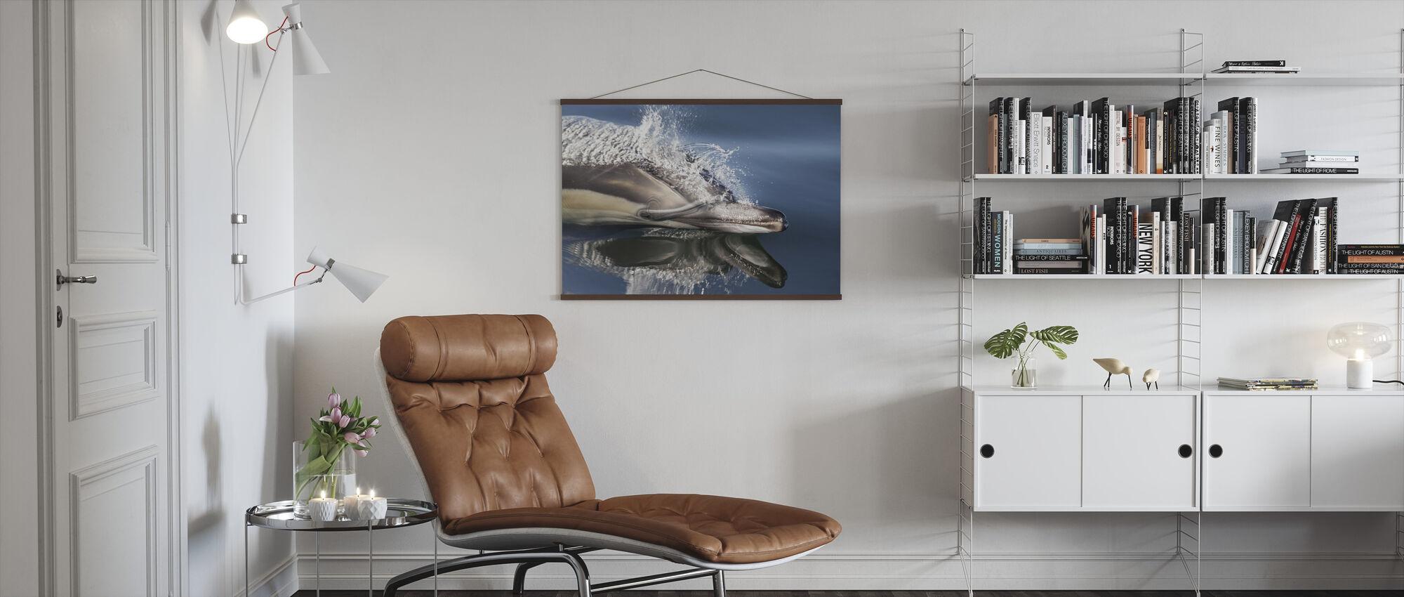 Dolfijn met lange snavel - Poster - Woonkamer