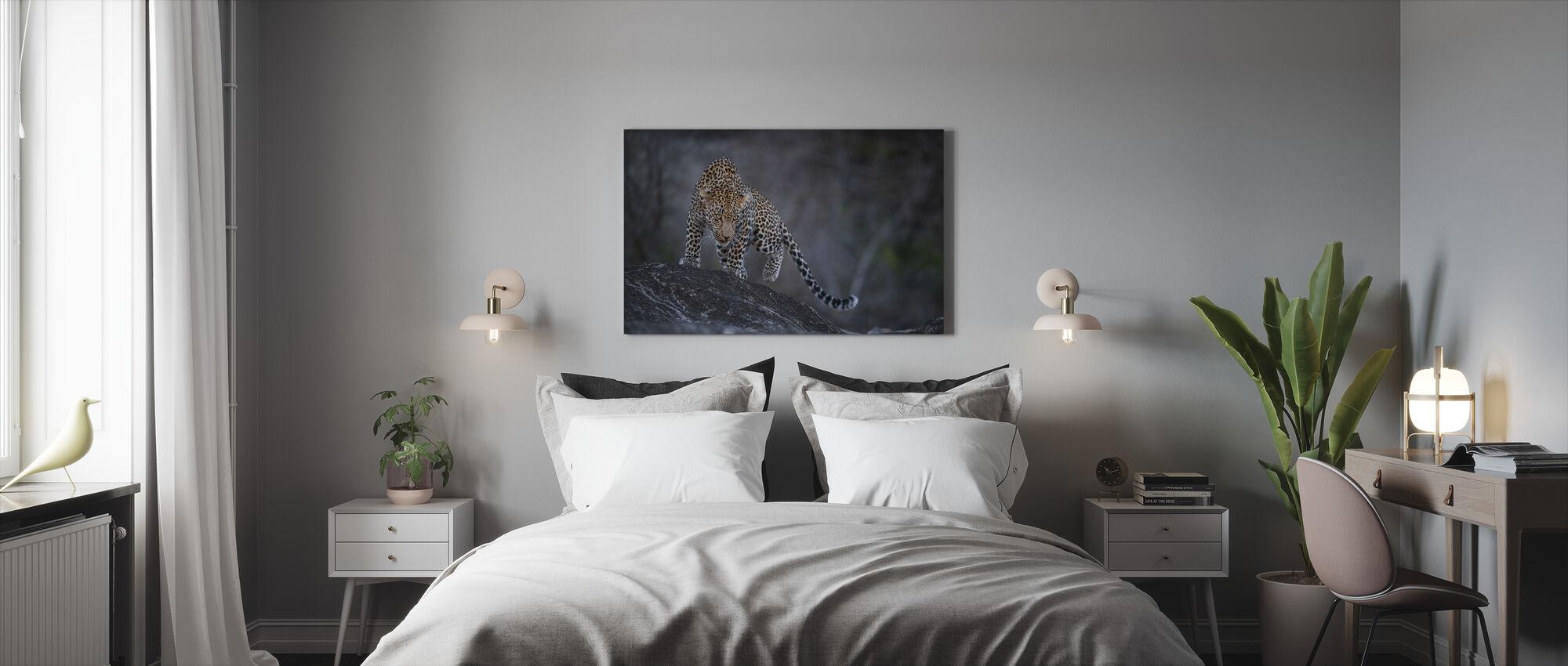 Luipaard op een rots - Canvas print - Slaapkamer