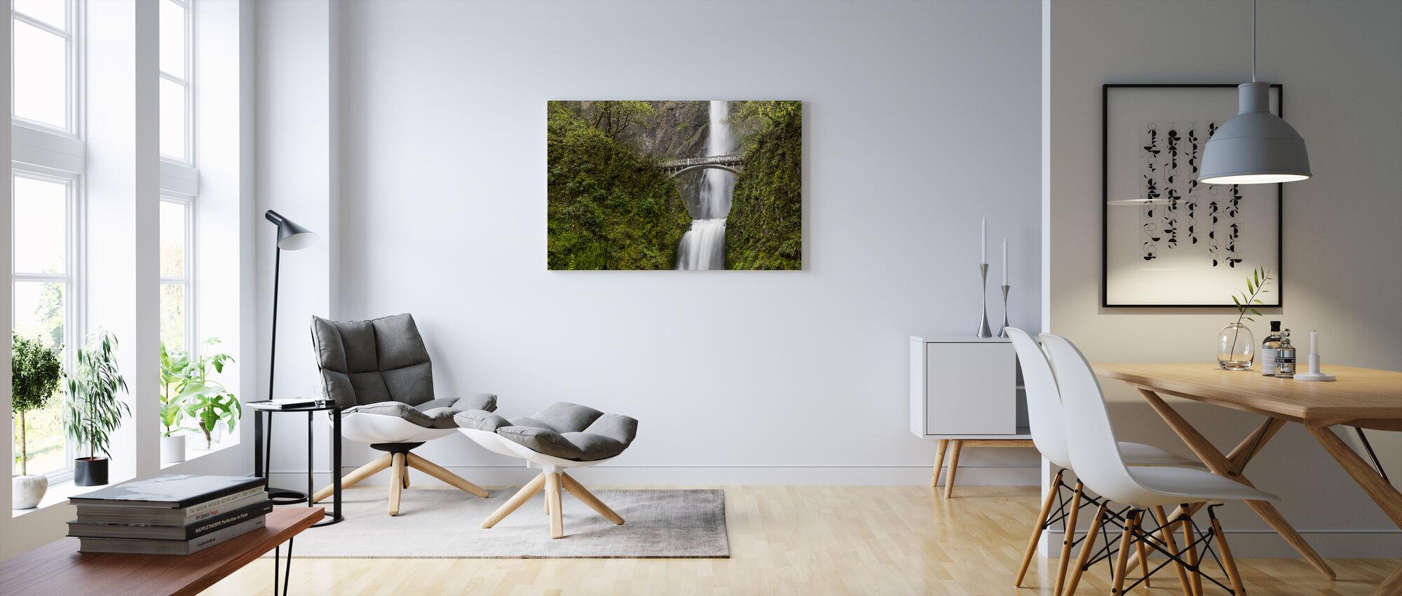 Multnomah Falls - Canvas print - Living Room