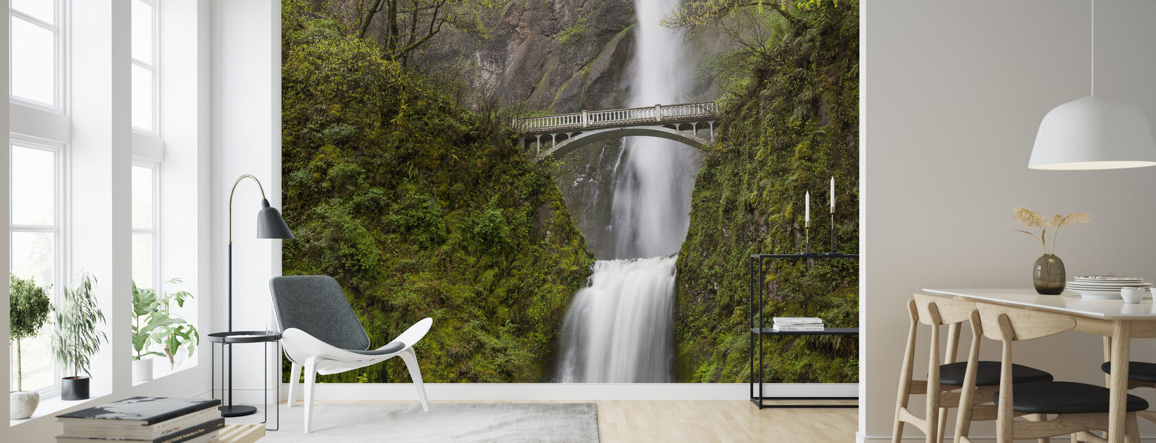Multnomah Falls - Wallpaper - Living Room