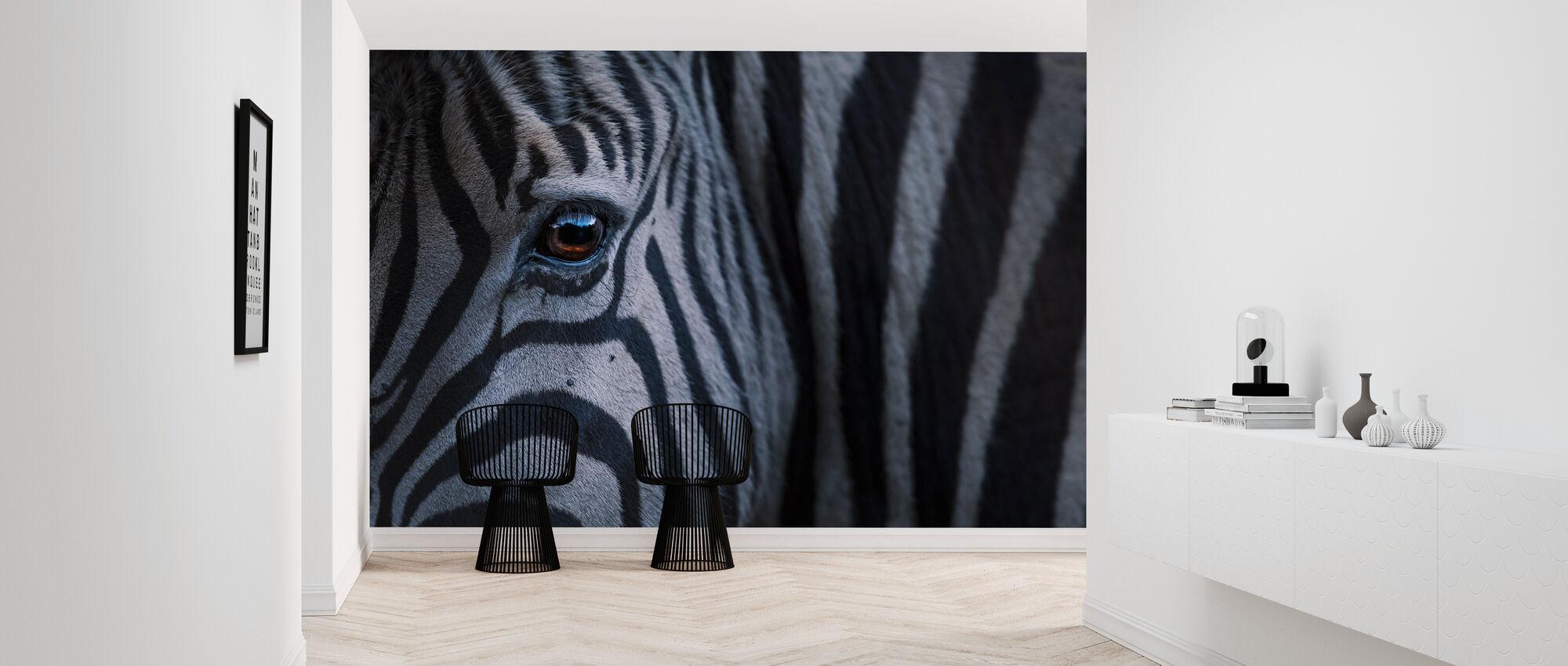 Plains Zebra närbild - Tapet - Hall
