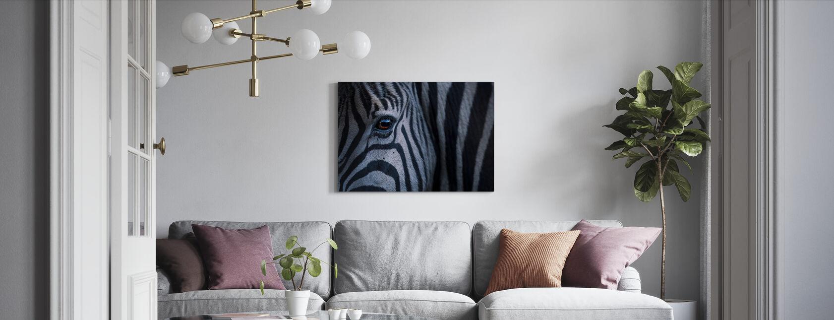 Plains Zebra Close Up - Canvas print - Woonkamer