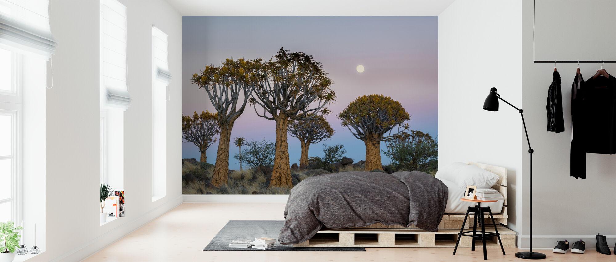 Vapina puut ja kuu - Tapetti - Makuuhuone