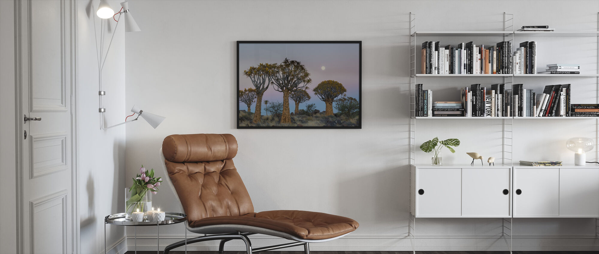 Quiver Trees and the Moon - Framed print - Living Room