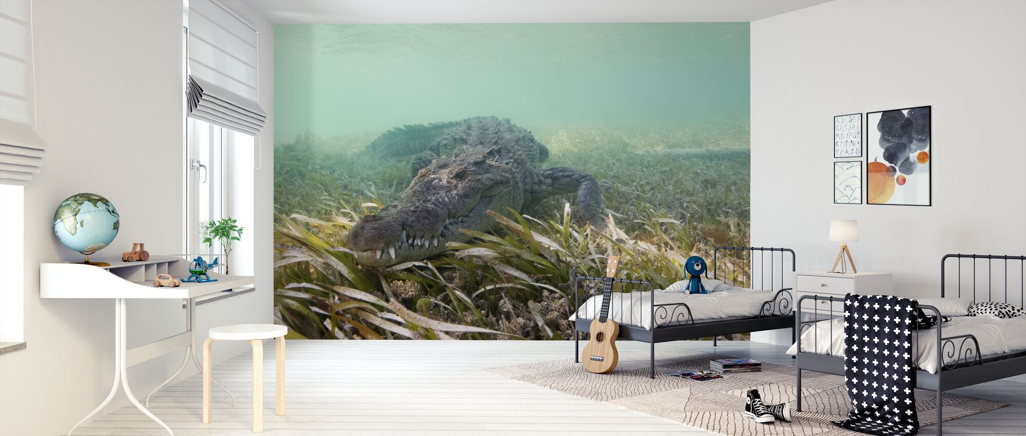 Amerikansk krokodille - Tapet - Barnerom