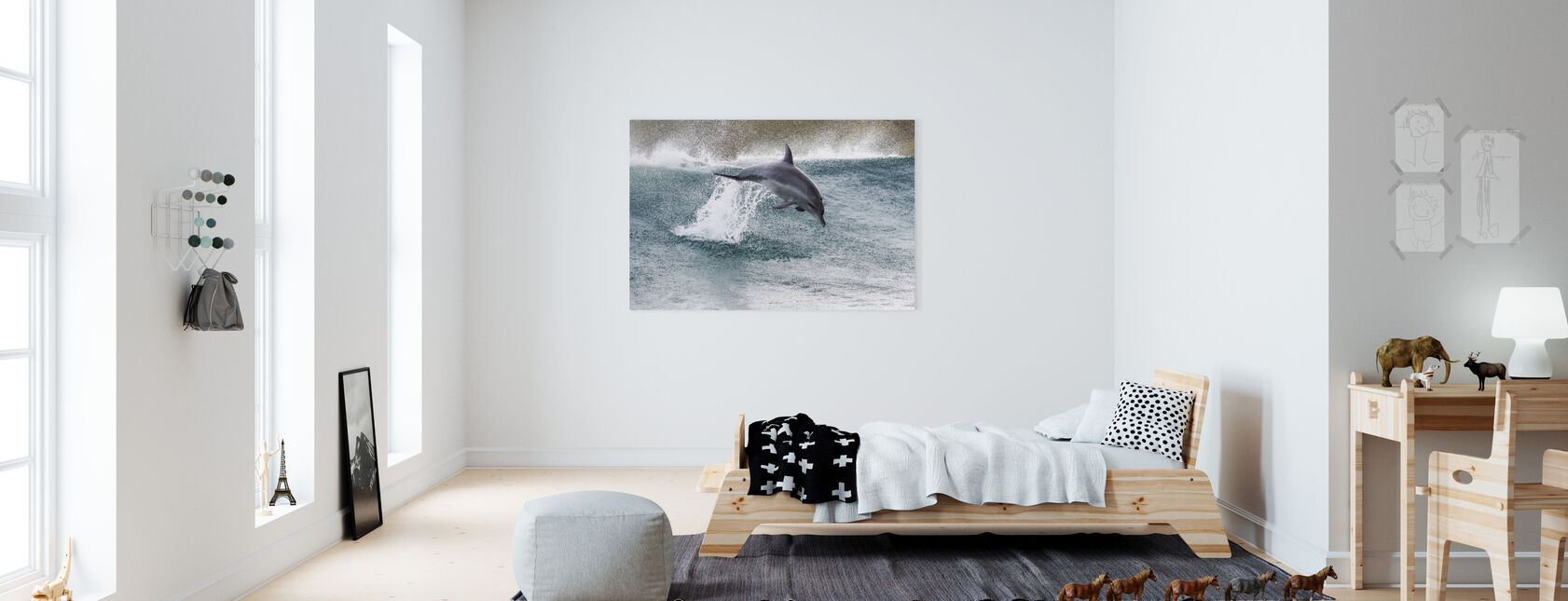Indo-Pacific Bottlenose Dolphin - Canvas print - Kids Room