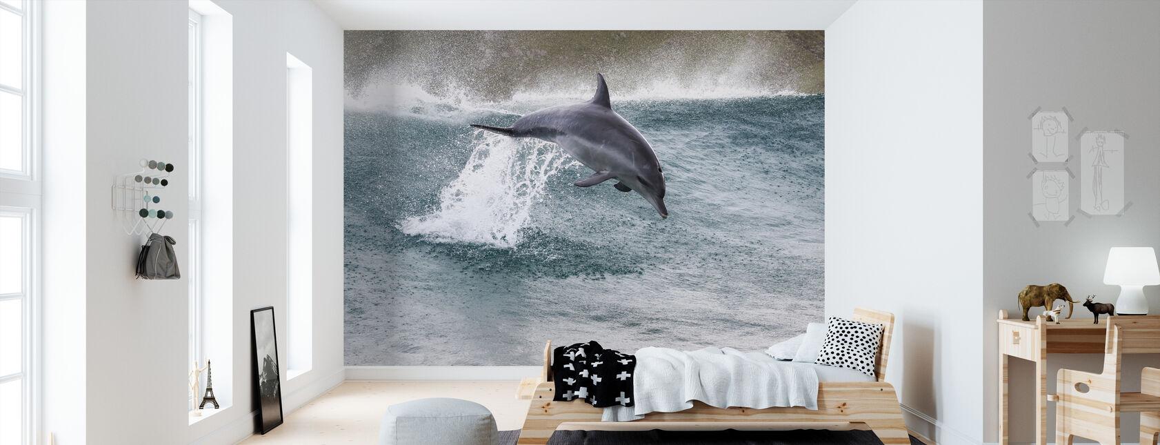Indo-Pacific Bottlenose Dolphin - Wallpaper - Kids Room