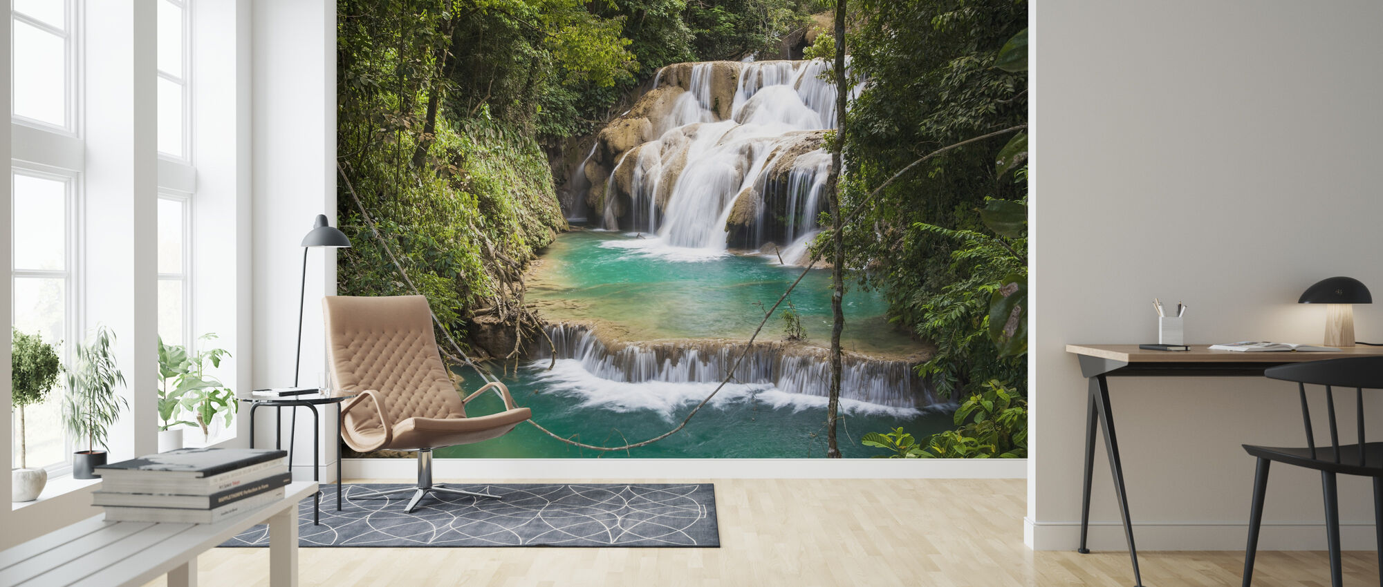 Las Golondrinas Waterfalls - Wallpaper - Living Room