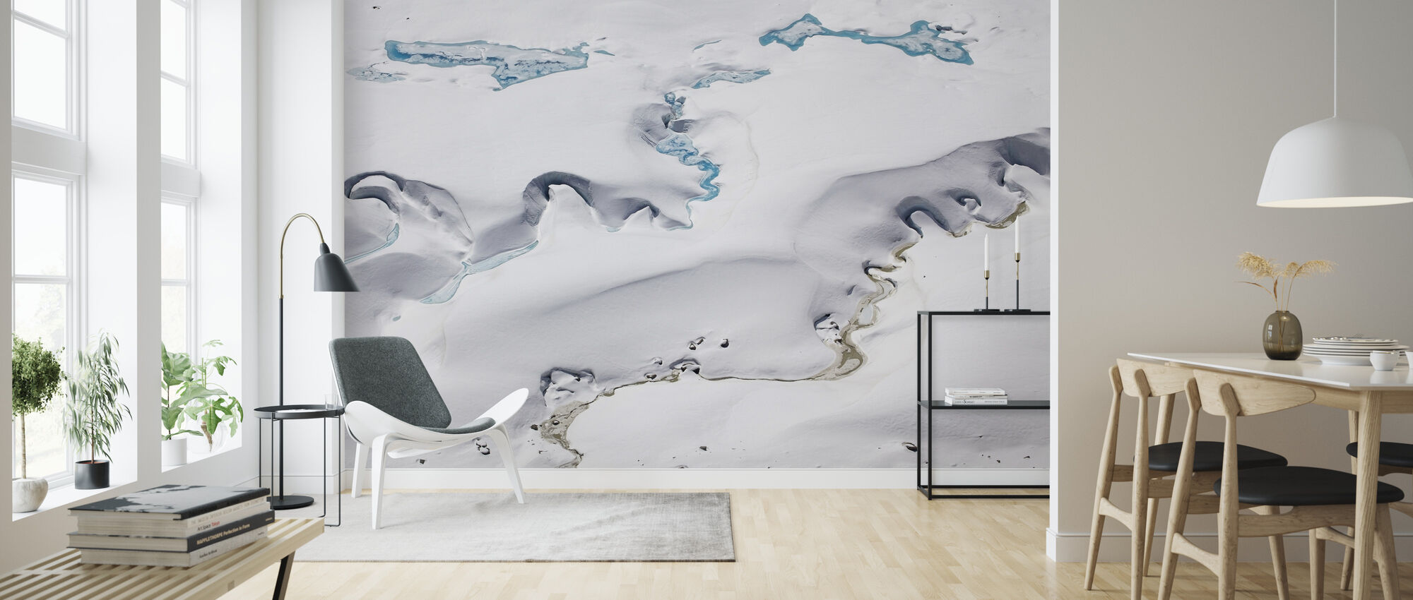 Gorner Glacier with Meltwater Channels - Wallpaper - Living Room