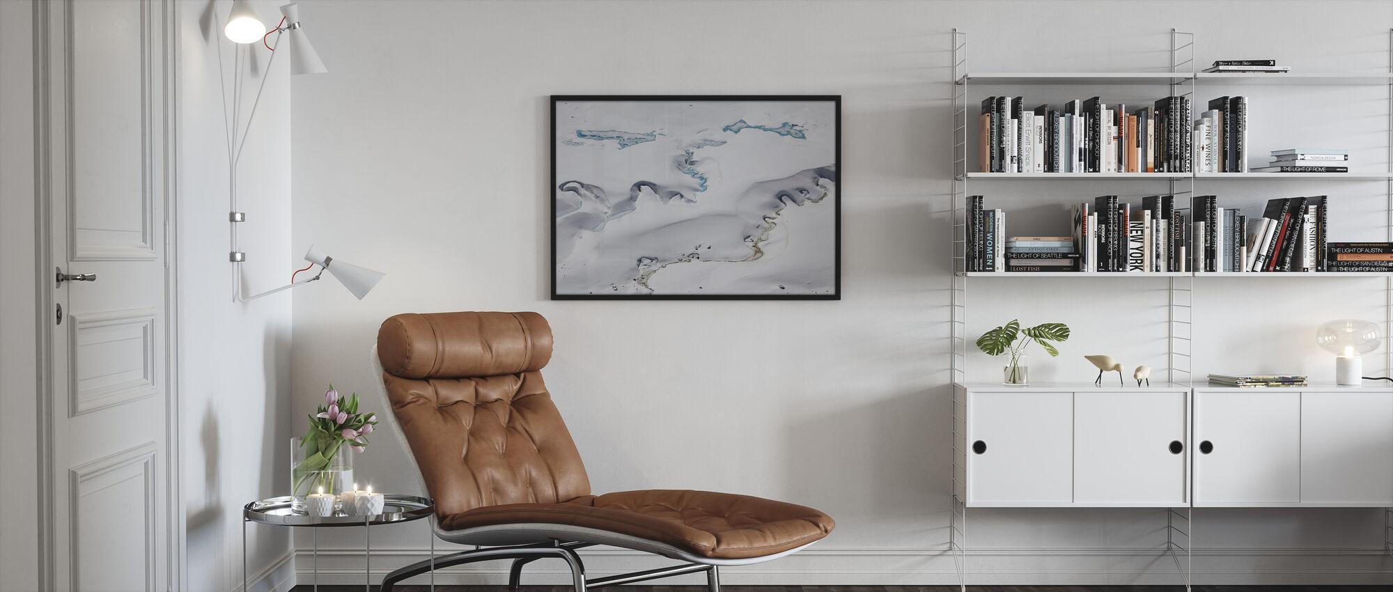 Gorner Glacier with Meltwater Channels - Framed print - Living Room