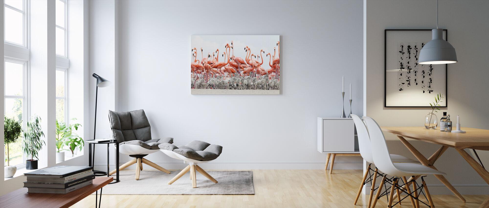 Caribbean Flamingo - Canvas print - Living Room
