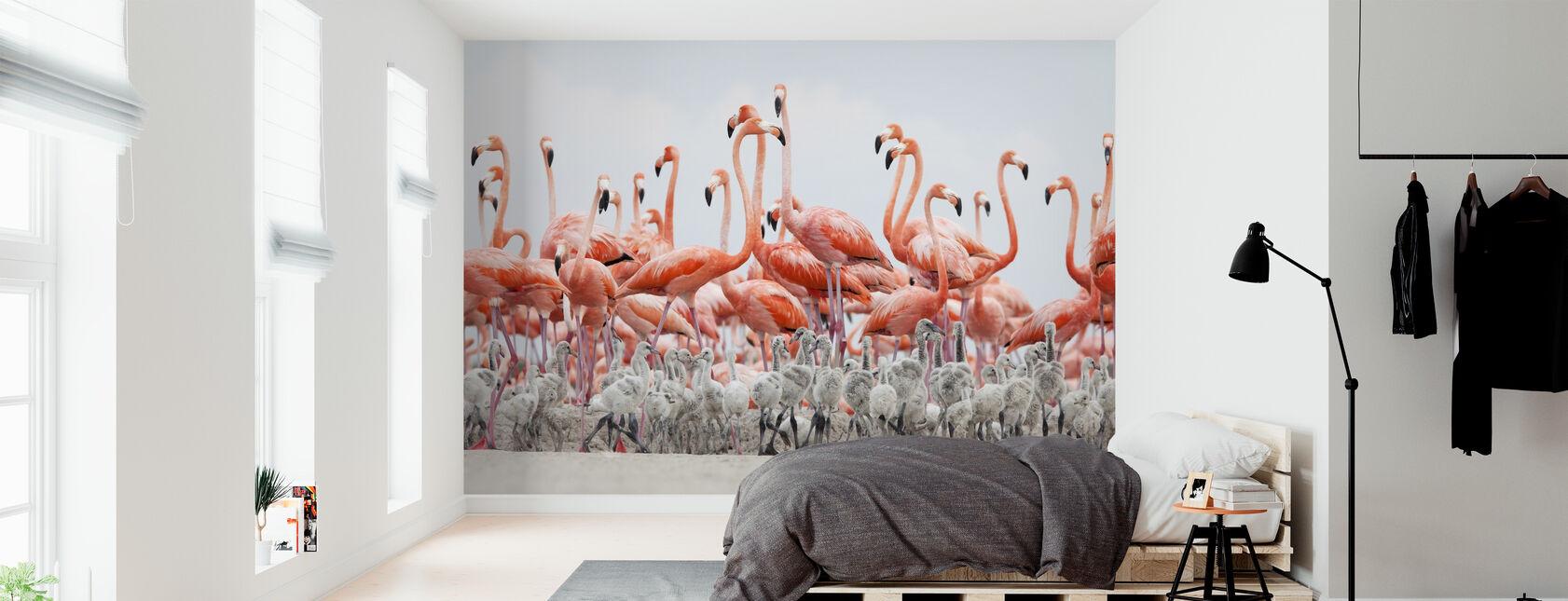 Karibien Flamingo - Tapet - Sovrum