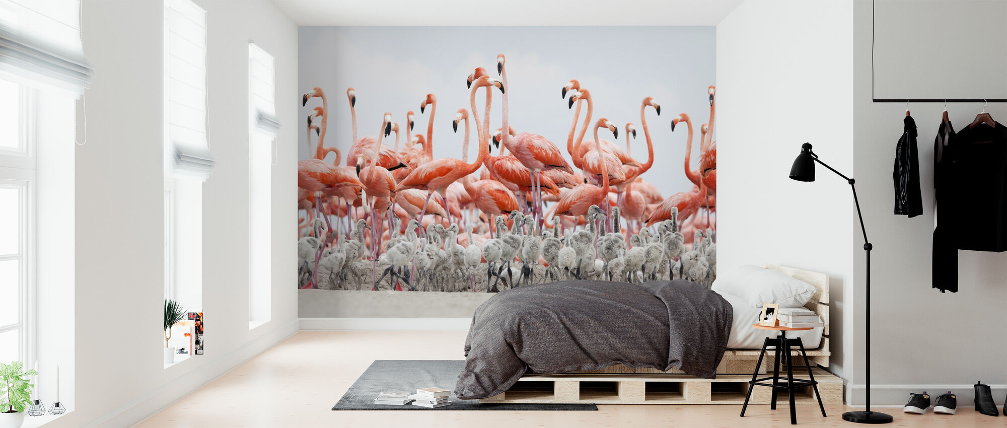 Caribbean Flamingo - Wallpaper - Bedroom