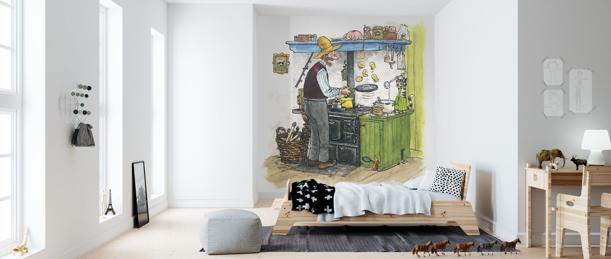 Findus moves out - Wallpaper - Kids Room