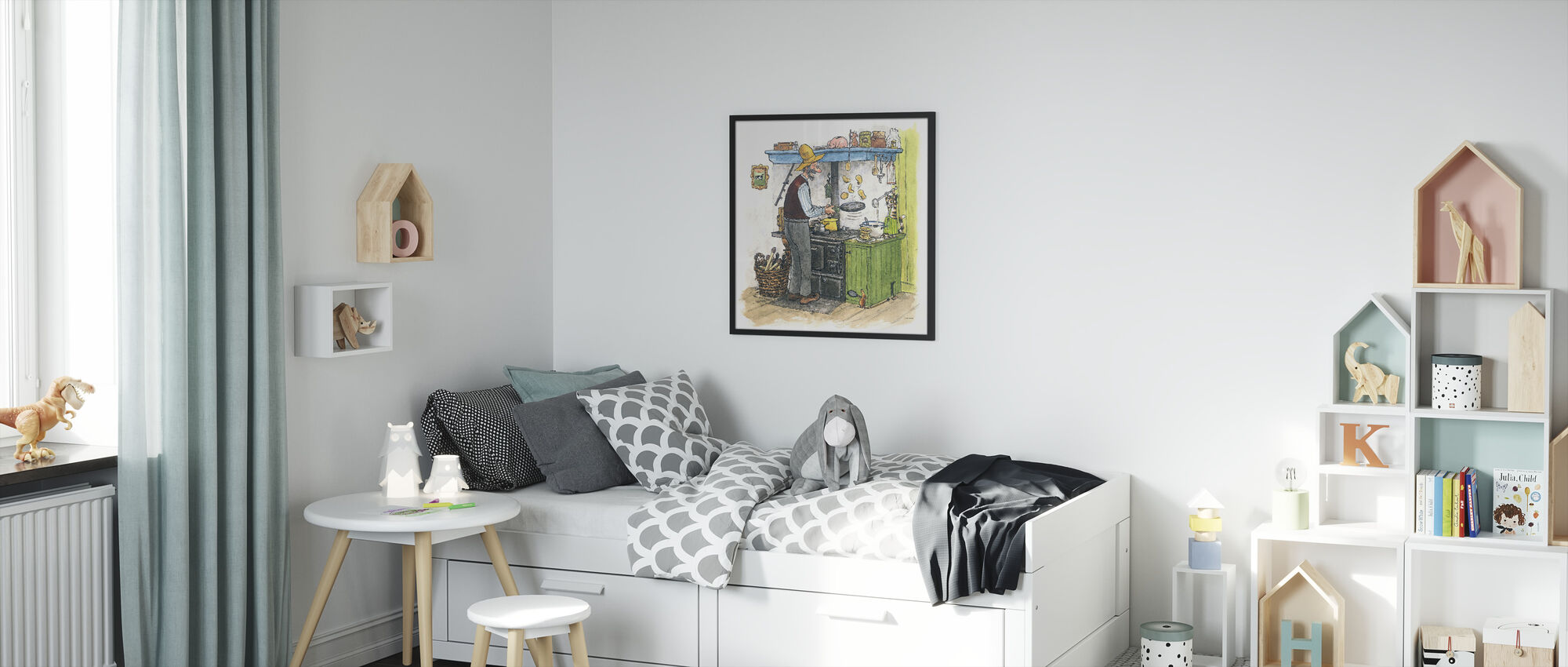 Findus moves out - Framed print - Kids Room
