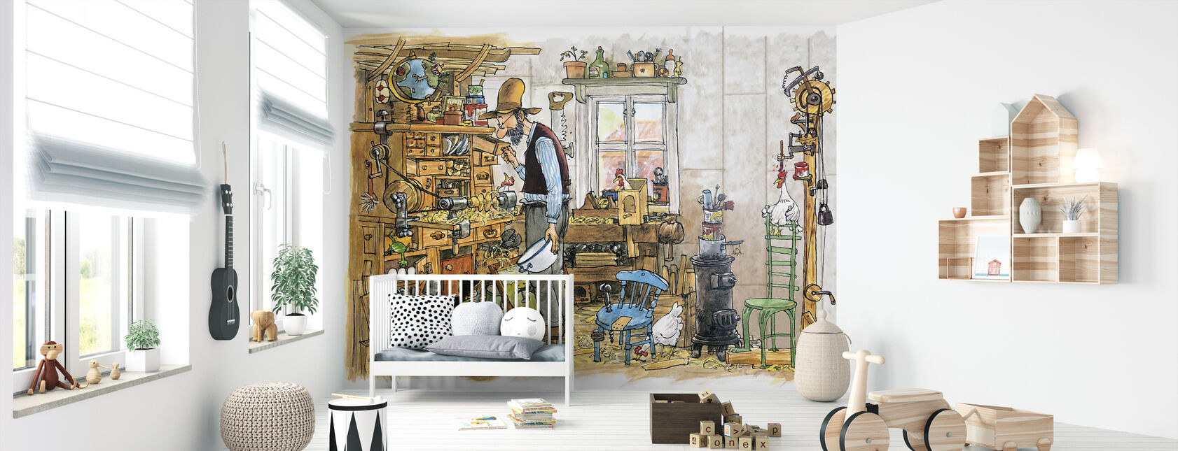 The carpenter - Wallpaper - Nursery