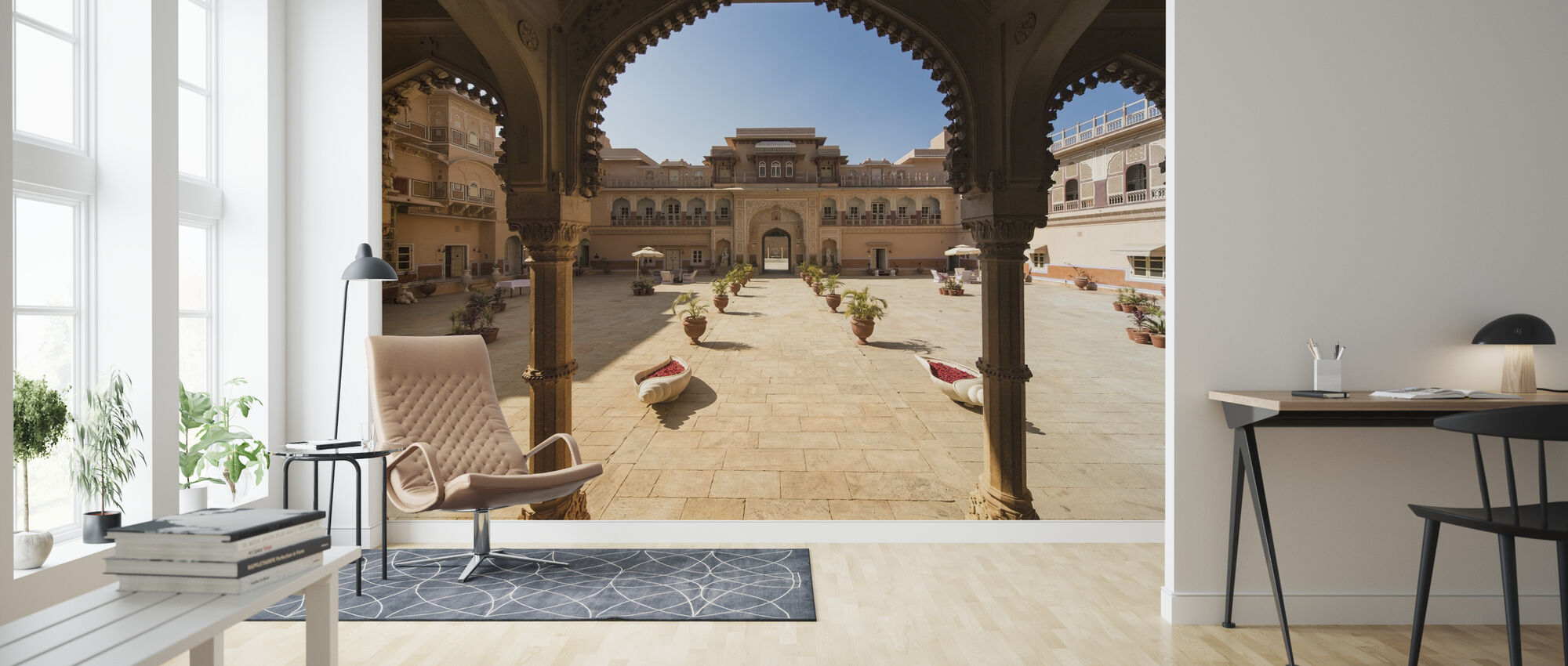 Palace Entrance - Wallpaper - Living Room