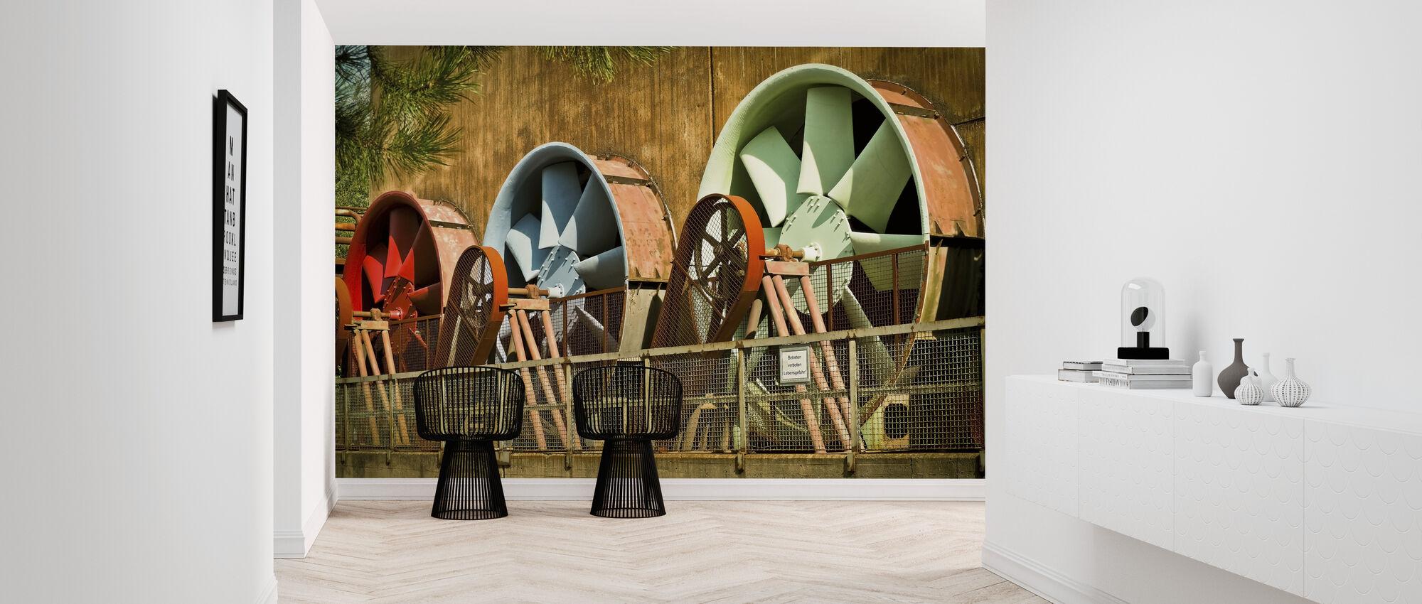 Power Plant Turbines - Wallpaper - Hallway