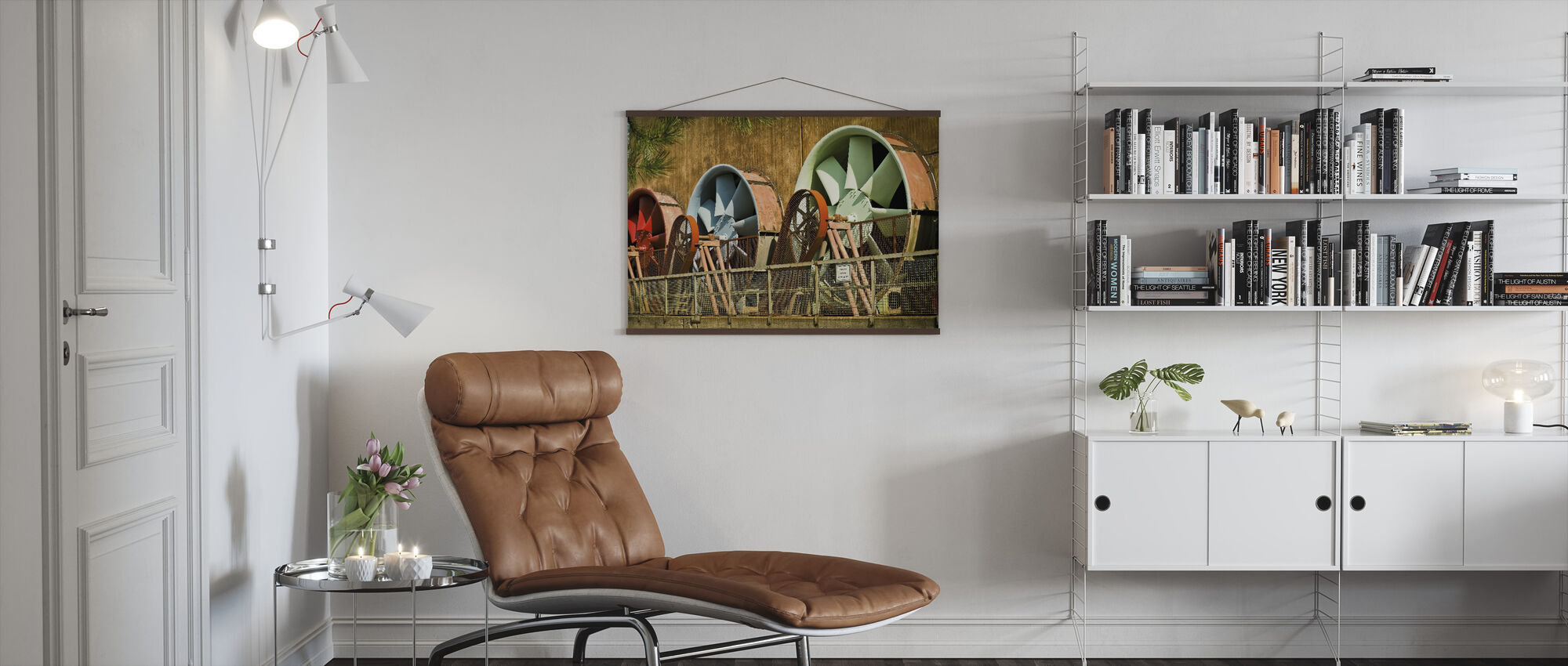 Power Plant Turbines - Poster - Living Room