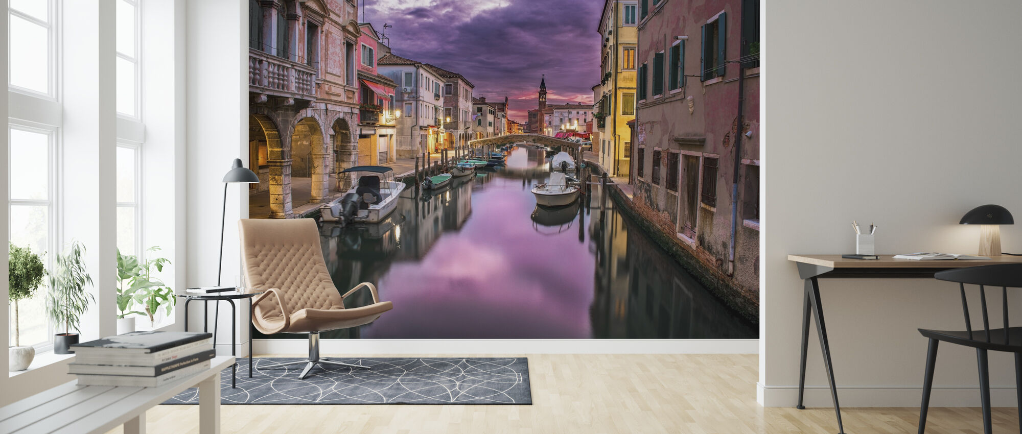 Canal in Venice - Wallpaper - Living Room
