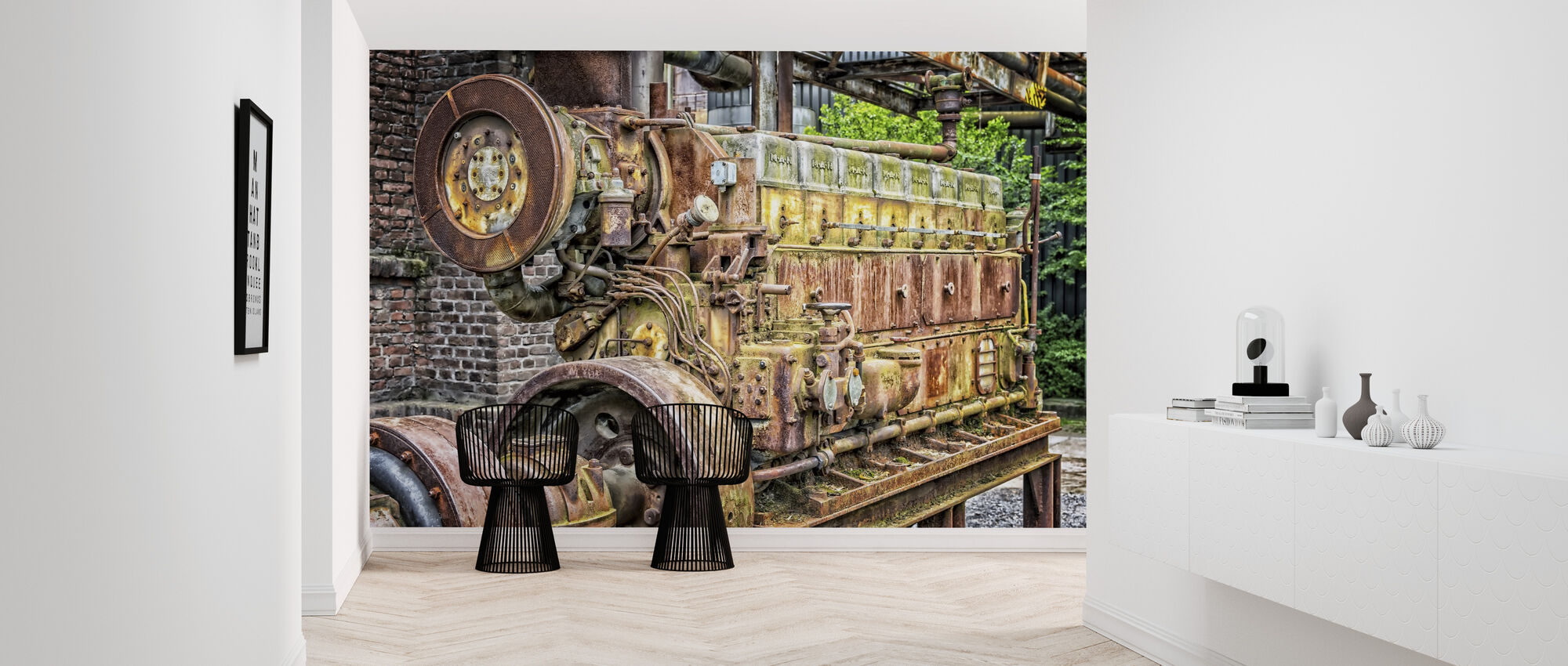 Rusty Machine Motor - Wallpaper - Hallway