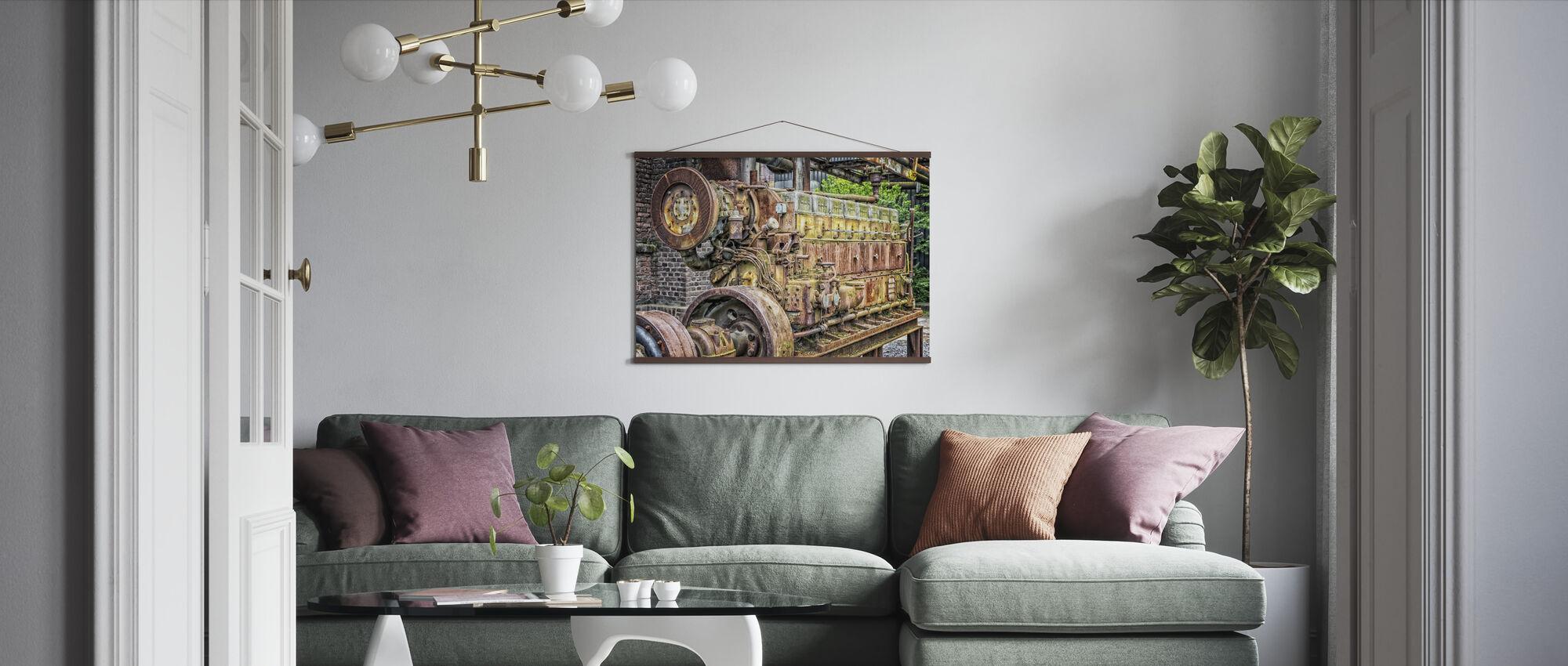 Rusty Machine Motor - Poster - Living Room