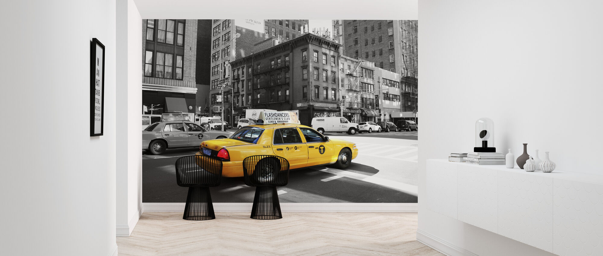 Taxi in the Street - Wallpaper - Hallway
