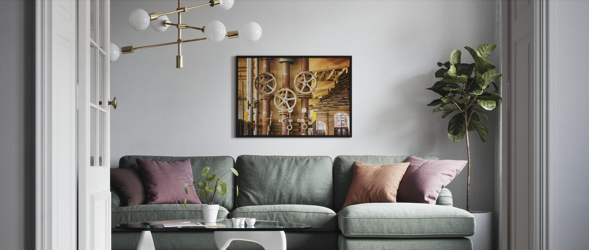 Pipes and Valves - Framed print - Living Room