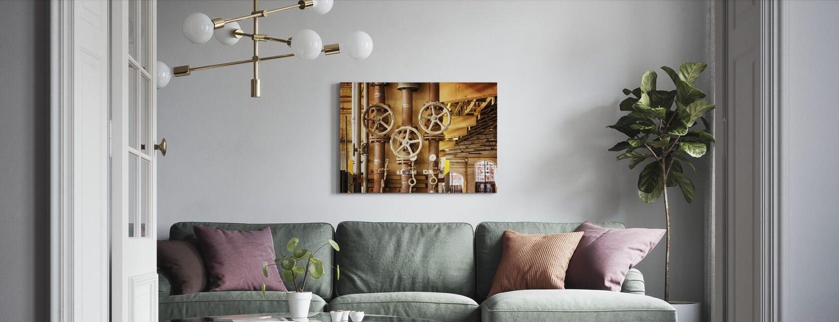 Pipes and Valves - Canvas print - Living Room