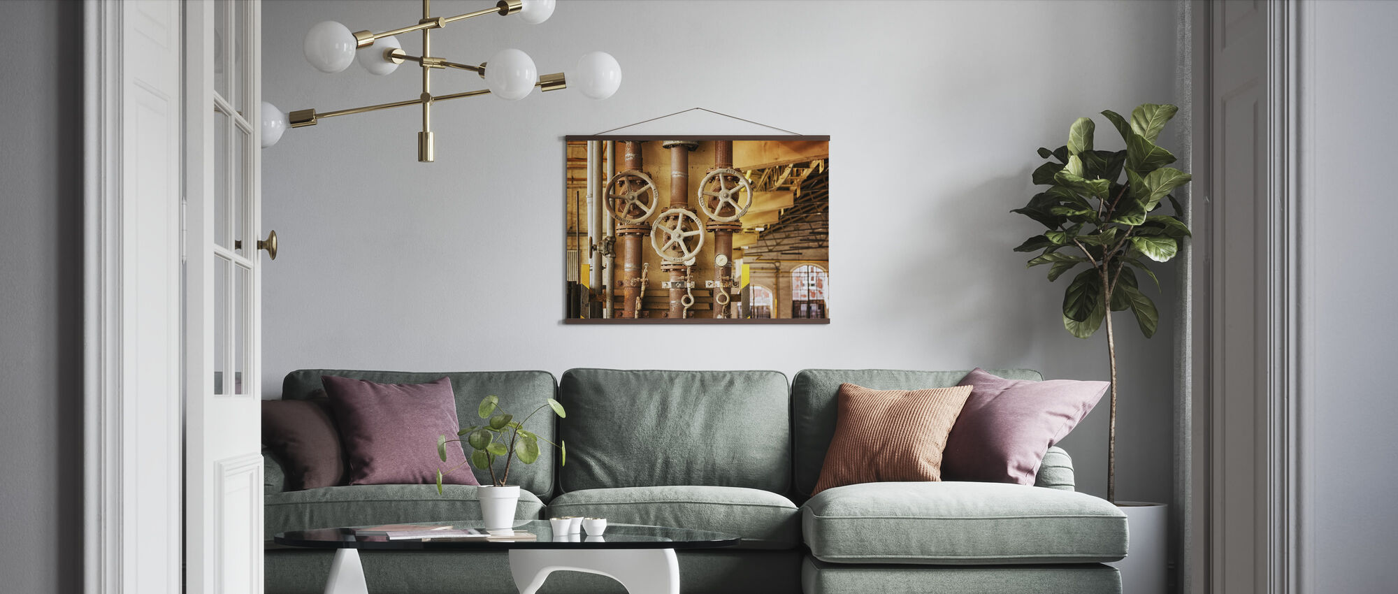 Pipes and Valves - Poster - Living Room