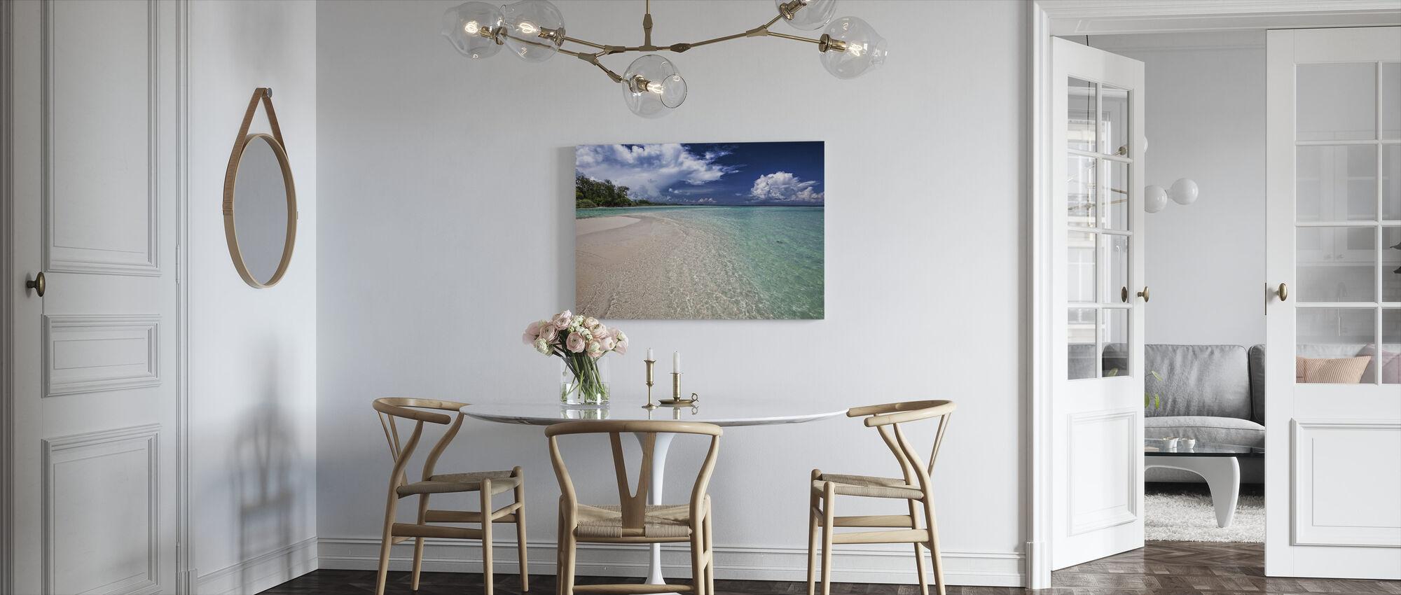 Hvit Sand Bar - Lerretsbilde - Kjøkken