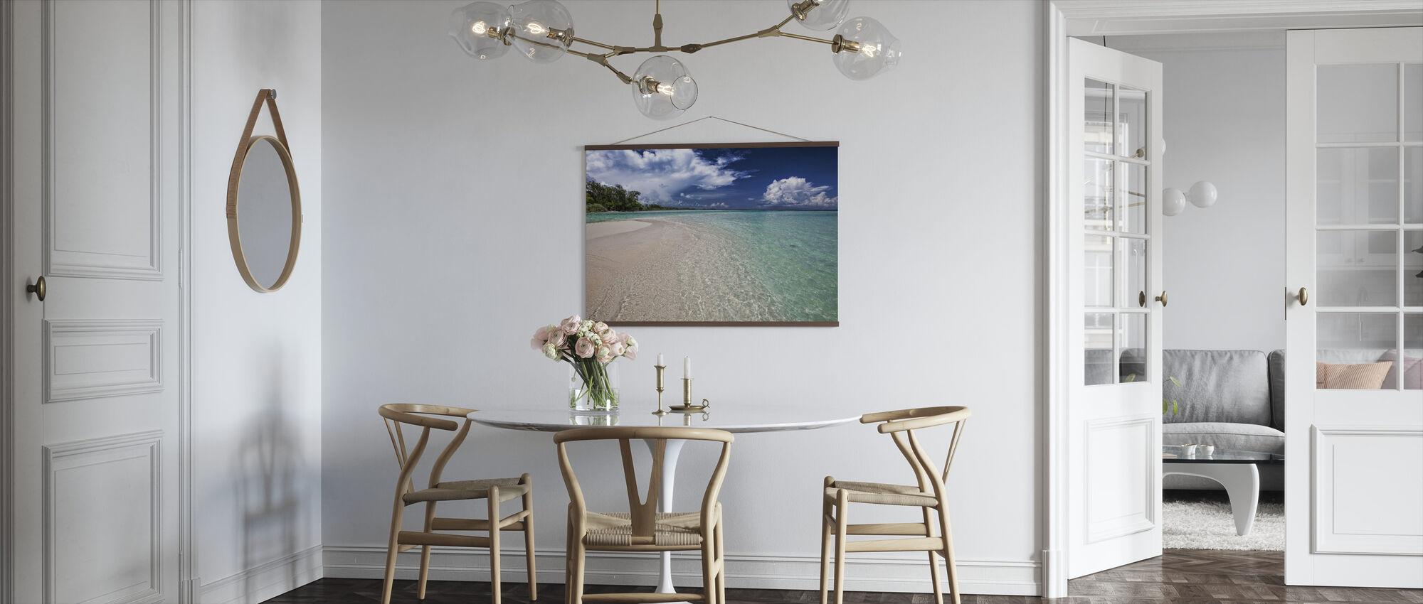 Weißer Sandstab - Poster - Küchen