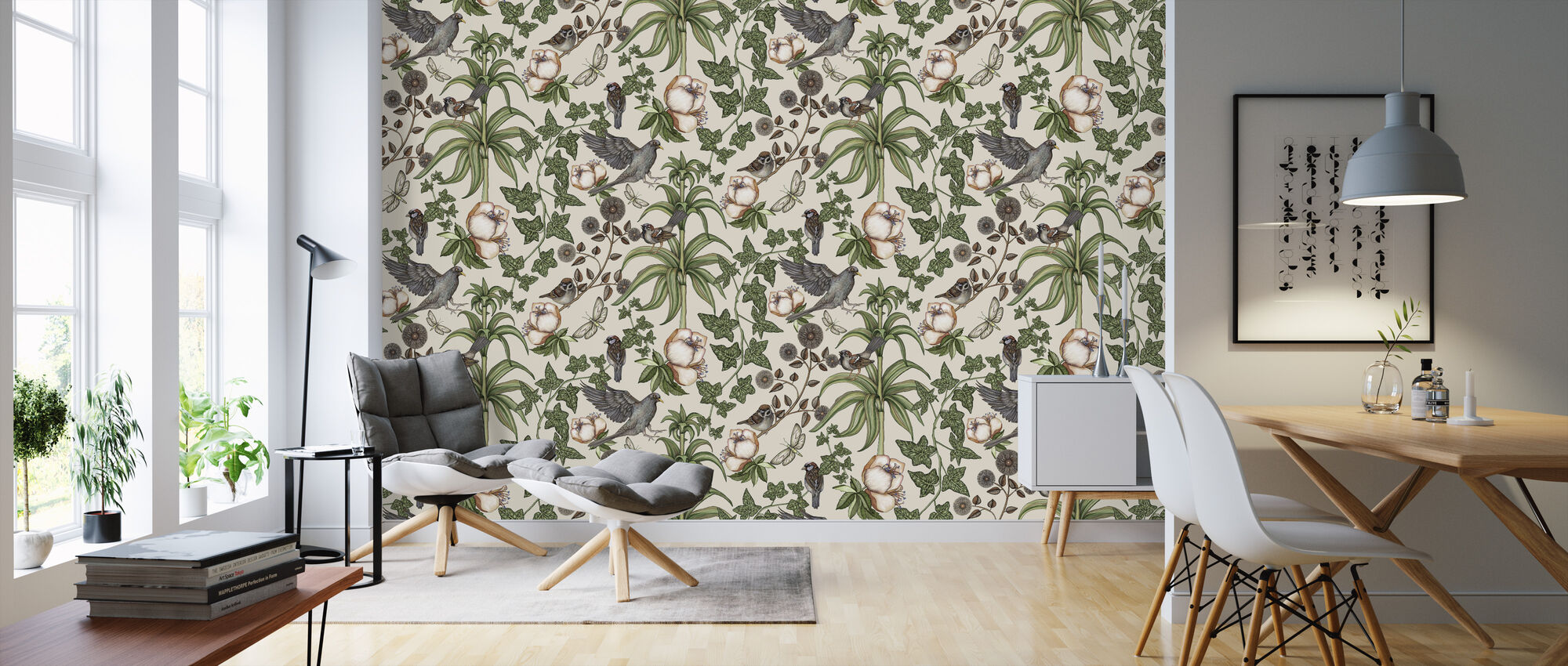 Ivy Offwhite - Wallpaper - Living Room