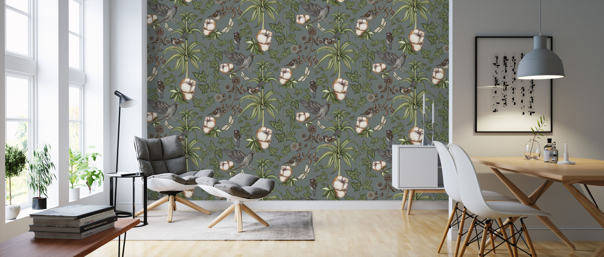 Ivy Green - Wallpaper - Living Room