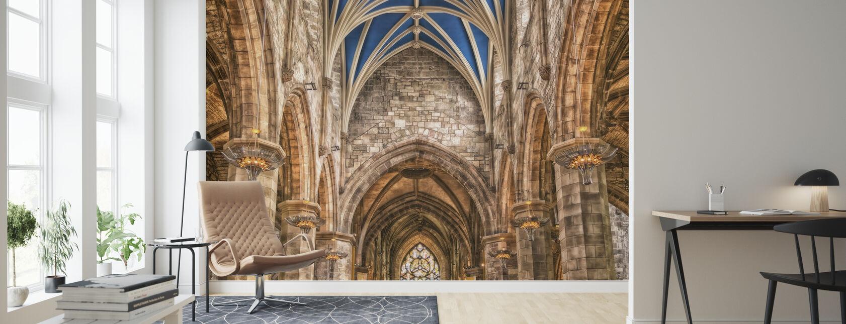 Katedralen pelare - Tapet - Vardagsrum