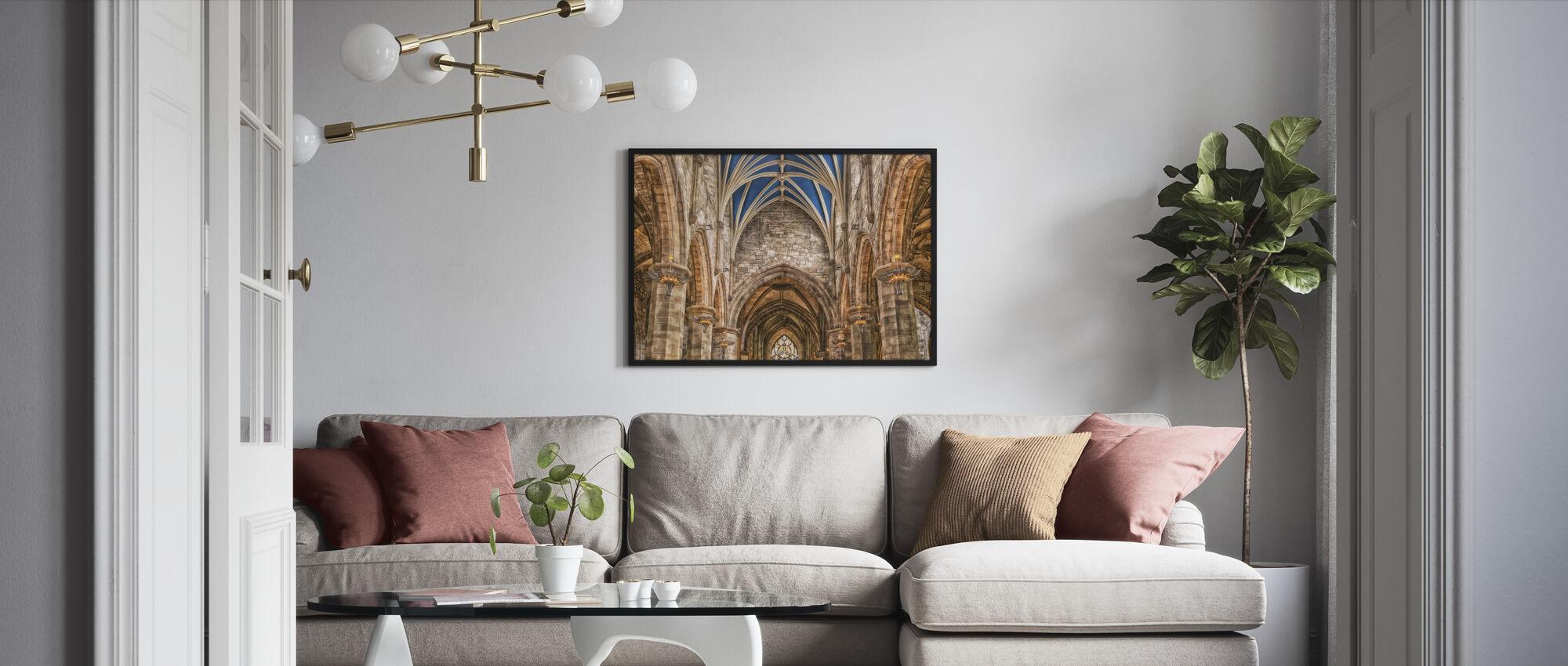 Cathedral Pillars - Framed print - Living Room