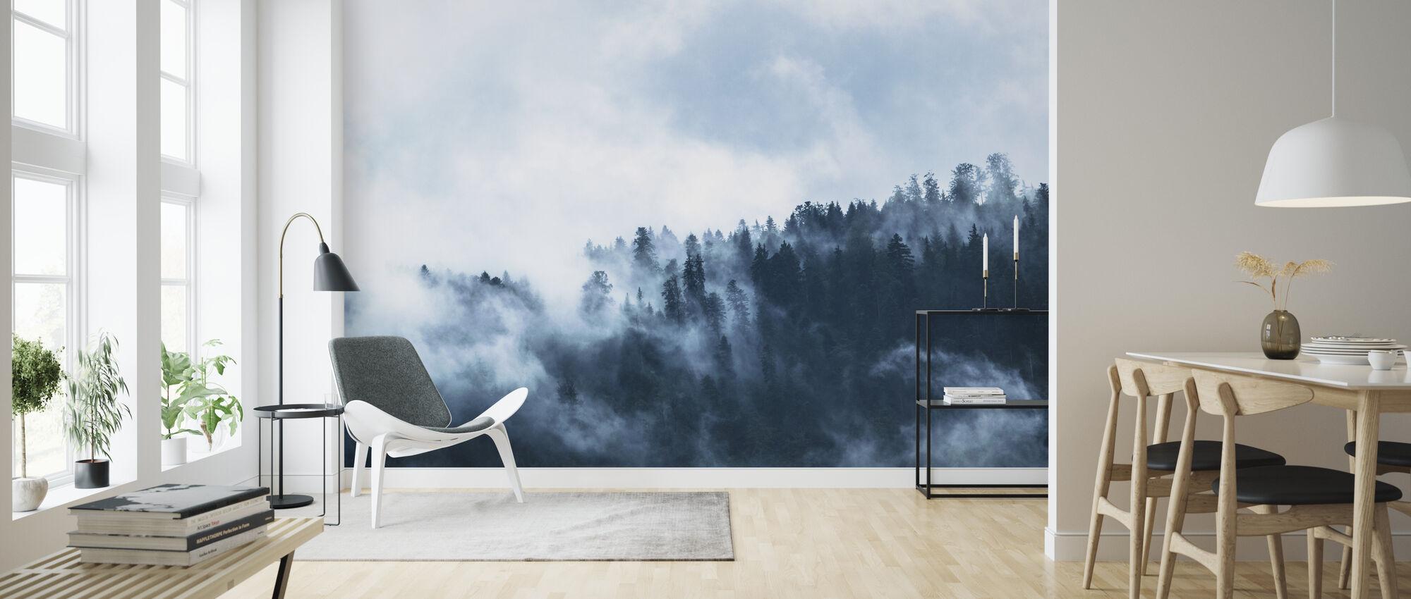 Dimma i skogen - Tapet - Vardagsrum